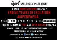 Flyer untuk Demo 29 April 2015