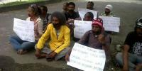 Demonstration by UNCEN students in Jayapura