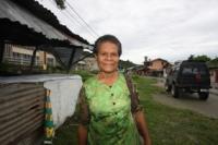 Beata Yaboisembut Akim, the woman who accompanies the President